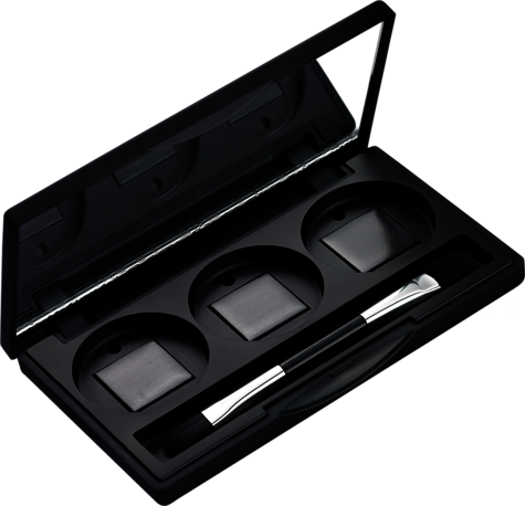 Refill Case for 3 colours with Duo Brush / 3er Lidschatten-Palette mit Duopinsel